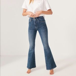 A&F ultra high rise flare jeans